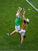 27 July 2019; Kyle Hayes of Limerick in action against Padraig Walsh of Kilkenny during the GAA Hurling All-Ireland Senior Championship Semi-Final match between Kilkenny and Limerick at Croke Park in Dublin. Photo by Daire Brennan/Sportsfile