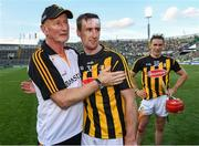 27 July 2019; Kilkenny manager Brian Cody and Joey Holden of Kilkenny after the GAA Hurling All-Ireland Senior Championship Semi-Final match between Kilkenny and Limerick at Croke Park in Dublin. Photo by Ray McManus/Sportsfile