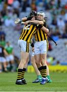 27 July 2019; TJ Reid and Walter Walsh, 12, of Kilkenny celebrate after the GAA Hurling All-Ireland Senior Championship Semi-Final match between Kilkenny and Limerick at Croke Park in Dublin. Photo by Ray McManus/Sportsfile