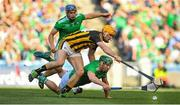 27 July 2019; Sean Finn of Limerick in action against Colin Fennelly of Kilkenny during the GAA Hurling All-Ireland Senior Championship Semi-Final match between Kilkenny and Limerick at Croke Park in Dublin. Photo by David Fitzgerald/Sportsfile