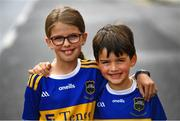 28 July 2019; Tipperary supporters Lauren and Cian Connolly, from Fethard, ahead of the GAA Hurling All-Ireland Senior Championship Semi Final match between Wexford and Tipperary at Croke Park in Dublin. Photo by Ramsey Cardy/Sportsfile
