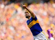 28 July 2019; Séamus Callanan of Tipperary celebrates after scoring his side's first goal of the game during the GAA Hurling All-Ireland Senior Championship Semi Final match between Wexford and Tipperary at Croke Park in Dublin. Photo by Seb Daly/Sportsfile