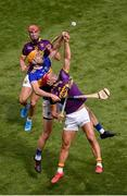 28 July 2019; Lee Chin of Wexford in action against Barry Heffernan of Tipperary during the GAA Hurling All-Ireland Senior Championship Semi Final match between Wexford and Tipperary at Croke Park in Dublin. Photo by Daire Brennan/Sportsfile