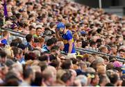 28 July 2019; John McGrath of Tipperary leaves the field after being shown a red card during the GAA Hurling All-Ireland Senior Championship Semi Final match between Wexford and Tipperary at Croke Park in Dublin. Photo by Seb Daly/Sportsfile