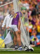 28 July 2019; Conor McDonald of Wexford celebrates after scoring his side's third goal of the game during the GAA Hurling All-Ireland Senior Championship Semi Final match between Wexford and Tipperary at Croke Park in Dublin. Photo by Seb Daly/Sportsfile