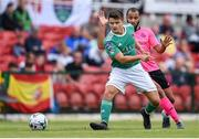28 July 2019; Daire O'Connor of Cork City in action against Ethan Boyle of Shamrock Rovers during the SSE Airtricity League Premier Division match between Cork City and Shamrock Rovers at Turners Cross in Cork. Photo by Ben McShane/Sportsfile