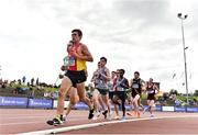 28 July 2019; Ryan Forsyth of Newcastle & District AC, Co. Down, leads the field during the Men's 5000m during day two of the Irish Life Health National Senior Track & Field Championships at Morton Stadium in Santry, Dublin. Photo by Sam Barnes/Sportsfile