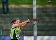 28 July 2019; Ciara McGuire of Na Fianna A.C., Co. Meath, competing in the Women's Hammer  during day two of the Irish Life Health National Senior Track & Field Championships at Morton Stadium in Santry, Dublin. Photo by Harry Murphy/Sportsfile