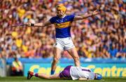 28 July 2019; Séamus Callanan of Tipperary reacts after a foul on Wexford goalkeeper Mark Fanning during the GAA Hurling All-Ireland Senior Championship Semi Final match between Wexford and Tipperary at Croke Park in Dublin. Photo by Ramsey Cardy/Sportsfile