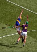 28 July 2019; Ronan Maher of Tipperary in action against Conor McDonald of Wexford during the GAA Hurling All-Ireland Senior Championship Semi Final match between Wexford and Tipperary at Croke Park in Dublin. Photo by Daire Brennan/Sportsfile