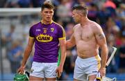 28 July 2019; Conor McDonald of Wexford, left, is consoled by Padraic Maher of Tipperary after the GAA Hurling All-Ireland Senior Championship Semi Final match between Wexford and Tipperary at Croke Park in Dublin. Photo by Brendan Moran/Sportsfile