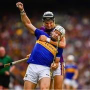 28 July 2019; Padraic Maher of Tipperary is tackled by Jack O'Connor of Wexford during the GAA Hurling All-Ireland Senior Championship Semi Final match between Wexford and Tipperary at Croke Park in Dublin. Photo by Ray McManus/Sportsfile