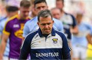 28 July 2019; Wexford manager Davy Fitzgerald leads his team from the pitch after the GAA Hurling All-Ireland Senior Championship Semi Final match between Wexford and Tipperary at Croke Park in Dublin. Photo by Brendan Moran/Sportsfile