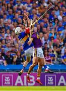 28 July 2019; Brendan Maher of Tipperary and Lee Chin of Wexford contest a dropping ball during the GAA Hurling All-Ireland Senior Championship Semi Final match between Wexford and Tipperary at Croke Park in Dublin. Photo by Brendan Moran/Sportsfile