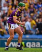 28 July 2019; Conor McDonald of Wexford celebrates scoring his side's third goal during the GAA Hurling All-Ireland Senior Championship Semi Final match between Wexford and Tipperary at Croke Park in Dublin. Photo by Brendan Moran/Sportsfile