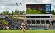 28 July 2019; Lee Chin of Wexford puts his side into a one point lead from a free late in the GAA Hurling All-Ireland Senior Championship Semi Final match between Wexford and Tipperary at Croke Park in Dublin. Photo by Brendan Moran/Sportsfile