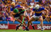 28 July 2019; Conor McDonald of Wexford is tackled by Ronan Maher and Padraic Maher of Tipperary during the GAA Hurling All-Ireland Senior Championship Semi Final match between Wexford and Tipperary at Croke Park in Dublin. Photo by Brendan Moran/Sportsfile