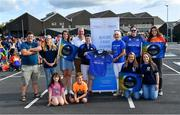28 July 2019; Players and staff from Europe Shamrocks with Olive Ruane of Piete House before parading to the Renault GAA World Games Opening Ceremony at Waterford City in Waterford. Photo by Piaras Ó Mídheach/Sportsfile