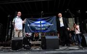28 July 2019; Niall Erskine, GAA's World Games committee, left, and Mayor of Waterford John Pratt unveil the official flag during the Renault GAA World Games Opening Ceremony at Waterford City in Waterford. Photo by Piaras Ó Mídheach/Sportsfile