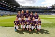 28 July 2019; The Wexford team, back row, left to right, Molly Conroy, St Aidan's NS, Kilmanagh , Kilkenny, Róisin Conlon, Scoil Mhuire GNS, Lucan, Dublin, Hannah Earls, Scoil Bhríde, Ballinasloe, Galway, Annie Dunne, Derrylamogue NS, Rosenallis, Laois, Tilly Crossan, Melview NS, Corragarrow, Longford, front row, left to right, Hannah Finn, St Brigid's NS, Kildare Town, Kildare, Áine McDonald, St. Brigid's Crossbridge, Arklow, Wicklow, Aoife Kirby, Scoil Tighearnach Naofa, Cullohill, Laois, Zara Quirke, St Aidans SNS, Brookfeld Road, Dublin, Saoirse D'Arcy, Scoil Mhuire na nGael , Dundalk, Louth, ahead of the INTO Cumann na mBunscol GAA Respect Exhibition Go Games at the GAA Hurling All-Ireland Senior Championship Semi Final match between Wexford and Tipperary at Croke Park in Dublin. Photo by Daire Brennan/Sportsfile