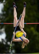 28 July 2019; Clodagh Walsh of Abbey Striders A.C., Co. Cork, competing in the Women's Pole Vault during day two of the Irish Life Health National Senior Track & Field Championships at Morton Stadium in Santry, Dublin. Photo by Harry Murphy/Sportsfile