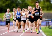 28 July 2019; Jack Boylan of Dunleer A.C., Co. Louth, competing in the Men's 1500m during day two of the Irish Life Health National Senior Track & Field Championships at Morton Stadium in Santry, Dublin. Photo by Harry Murphy/Sportsfile