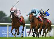 29 July 2019; Galtee Mist, left, with Colm O'Donoghue up, races alongside Syrena, with Donnacha O'Brien up, who finished second, on their way to winning the Claytonhotelgalway.ie Handicap during Day One of the Galway Races Summer Festival 2019 in Ballybrit, Galway. Photo by Seb Daly/Sportsfile