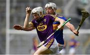 28 July 2019; David Dunne of Wexford is tackled by Padraic Maher of Tipperary during the GAA Hurling All-Ireland Senior Championship Semi Final match between Wexford and Tipperary at Croke Park in Dublin. Photo by Brendan Moran/Sportsfile