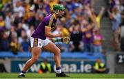 28 July 2019; Conor McDonald of Wexford celebrates after scoring his side's third goal during the GAA Hurling All-Ireland Senior Championship Semi Final match between Wexford and Tipperary at Croke Park in Dublin. Photo by Brendan Moran/Sportsfile