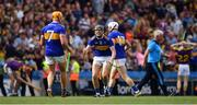 28 July 2019; Alan Flynn of Tipperary celebrates with team-mate Ronan Maher after the GAA Hurling All-Ireland Senior Championship Semi Final match between Wexford and Tipperary at Croke Park in Dublin. Photo by Brendan Moran/Sportsfile