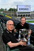 30 July 2019; Dublin manager Tom Gray, left, and Cork manager Keith Ricken in Croke Park at the EirGrid U20 Football All-Ireland Final preview event ahead of this Saturday's decider. EirGrid, the state-owned company that manages and develops Ireland's electricity grid, has partnered with the GAA since 2015 as sponsor of the U20 GAA Football All-Ireland Championship. Photo by Brendan Moran/Sportsfile