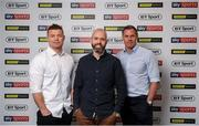 24 July 2019; Brian O'Driscoll, Eoin McDevitt and Jamie Carragher during the launch of 'Sports Extra' on Sky. The new sports pack which includes BT Sport and Premier Sports will be available to new & existing Sky Sports customers from August 1 for just €10 extra a month. Sports fans will be able to watch an unbeatable range of sports, including every single live Premier League game, all in one place. Photo by David Fitzgerald/Sportsfile