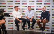 24 July 2019; Brian O'Driscoll and Jamie Carragher speaking to Eoin McDevitt during the launch of 'Sports Extra' on Sky. The new sports pack which includes BT Sport and Premier Sports will be available to new & existing Sky Sports customers from August 1 for just €10 extra a month. Sports fans will be able to watch an unbeatable range of sports, including every single live Premier League game, all in one place. Photo by David Fitzgerald/Sportsfile