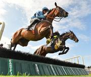 30 July 2019; Turnpike Trip, with Davy Russell up, jumps the fifth on their way to finishing second in the Colm Quinn BMW Novice Hurdle on Day Two of the Galway Races Summer Festival 2019 in Ballybrit, Galway. Photo by Seb Daly/Sportsfile