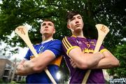 31 July 2019; At The Bord Gáis Energy GAA Hurling All-Ireland U-20 Championship semi-finals preview event in Dublin are Tipperary's Paddy Cadell and Wexford's Charlie Mc Guckin. They were joined by Joe Canning and Ger Cunningham, who were announced as judges for the Bord Gáis Energy U-20 Player of the Year Award, Kilkenny's Adrian Mullen and Cork's Brian Turnbull. Kerry's Adam O'Sullivan and Down's Ruairí McCrickard were also in Dublin to look forward the Richie McElligott Cup decider. Photo by Stephen McCarthy/Sportsfile