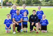 31 July 2019; Leinster players, Cian Kelleher and Hugh O'Sullivan, with participants during the Bank of Ireland Leinster Rugby Summer Camp at Tullamore RFC in Tullamore, Offaly. Photo by Matt Browne/Sportsfile