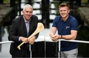 31 July 2019; At the Bord Gáis Energy GAA Hurling All-Ireland U-20 Championship semi-finals preview event in Dublin were Ger Cunningham and Joe Canning who were announced as judges for the Bord Gáis Energy U-20 Player of the Year Award. They were joined by Kilkenny's Adrian Mullen, Cork's Brian Turnbull, Tipperary's Paddy Cadell and Wexford's Charlie McGuickan who will compete in the semi-finals. Kerry's Adam O'Sullivan and Down's Ruairí McCrickard were also in Dublin to look forward the Richie McElligott Cup decider.. Photo by Stephen McCarthy/Sportsfile
