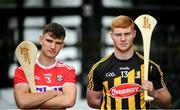 31 July 2019; At The Bord Gáis Energy GAA Hurling All-Ireland U-20 Championship semi-finals preview event in Dublin are Cork's Brian Turnbull and Kilkenny's Adrian Mullen. They were joined by Joe Canning and Ger Cunningham, who were announced as judges for the Bord Gáis Energy U-20 Player of the Year Award, Tipperary's Paddy Cadell, and Wexford's Charlie Mc Guckin. Kerry's Adam O'Sullivan and Down's Ruairí McCrickard were also in Dublin to look forward the Richie McElligott Cup decider. Photo by Stephen McCarthy/Sportsfile