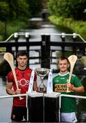 31 July 2019; At The Bord Gáis Energy GAA Hurling All-Ireland U-20 Championship Richie McElligott Cup final preview event are Down's Ruairí McCrickard and Kerry's Adam O'Sullivan. They were joined by Joe Canning and Ger Cunningham, who were announced as judges for the Bord Gáis Energy U-20 Player of the Year Award, Wexford's Charlie Mc Guckin, Kilkenny's Adrian Mullen, Tipperary's Paddy Cadell and Cork's Brian Turnbull. Photo by Stephen McCarthy/Sportsfile