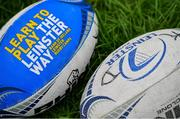 31 July 2019; Rugby balls during the Bank of Ireland Leinster Rugby Summer Camp at Coolmine RFC in Castleknock, Dublin. Photo by Brendan Moran/Sportsfile