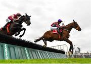 31 July 2019; Bercasa, with David Mullins up, right, jumps the fifth on their way to winning the Sign Up For A Tote Account Irish EBF Mares Handicap Hurdle on Day Three of the Galway Races Summer Festival 2019 in Ballybrit, Galway. Photo by Seb Daly/Sportsfile