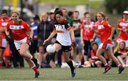 31 July 2019; Maya Wada of Asia Cranes in the Ladies Football Native Born tournament game against Canada East Ladies B during the Renault GAA World Games 2019 Day 3 at WIT Arena, Carriganore, Co. Waterford.  Photo by Piaras Ó Mídheach/Sportsfile