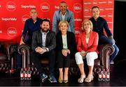31 July 2019; SuperValu, Ireland's largest grocery retailer with over 220 stores nationwide, teamed up with Ireland's leading sports broadcasters, Off The Ball, to bring their award-winning show on the road this summer, to celebrate SuperValu's 10th year as sponsor of the GAA Football All-Ireland Senior Championship. Joined by a host of special guests, the SuperValu Off The Ball roadshow landed in Dr Crokes GAA Club, last Wednesday, 31st July. Pictured are clockwise, from left, former Kerry manager Pat O'Shea, former Kerry footballers Kieran Donaghy and Darran O'Sullivan and Margaret Lawlor, Anne-Marie Fenton, SuperValu Communications Manager and presenter Nathan Murphy, at the Dr Crokes GAA Club in Killarney, Kerry. Photo by Brendan Moran/Sportsfile