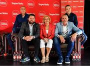 31 July 2019; SuperValu, Ireland's largest grocery retailer with over 220 stores nationwide, teamed up with Ireland's leading sports broadcasters, Off The Ball, to bring their award-winning show on the road this summer, to celebrate SuperValu's 10th year as sponsor of the GAA Football All-Ireland Senior Championship. Joined by a host of special guests, the SuperValu Off The Ball roadshow landed in Dr Crokes GAA Club, last Wednesday, 31st July. Pictured are, from left, former Kerry manager Pat O'Shea, presenter Nathan Murphy, former Kerry footballers Margaret Lawlor, Kieran Donaghy and Darran O'Sullivan at the Dr Crokes GAA Club in Killarney, Kerry. Photo by Brendan Moran/Sportsfile