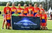 31 July 2019; The Iberia Native Born Ladies Football squad during the Renault GAA World Games 2019 Day 2 at WIT Arena, Carriganore, Co. Waterford. Photo by Piaras Ó Mídheach/Sportsfile