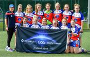 31 July 2019; The Empire State Ladies Native Born Ladies Football squad during the Renault GAA World Games 2019 Day 2 at WIT Arena, Carriganore, Co. Waterford. Photo by Piaras Ó Mídheach/Sportsfile