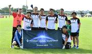 31 July 2019; The Asia Dragons Native Born Men's Football squad during the Renault GAA World Games 2019 Day 2 at WIT Arena, Carriganore, Co. Waterford. Photo by Piaras Ó Mídheach/Sportsfile