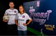 1 August 2019; Footballers, Sarah Rowe of Kilmoremoy and Mayo, and Conor McManus of Clontibret O'Neills and Monaghan, in attendance at the launch of the new dual-player feature of AIB's online video game, The Toughest Journey. Previously restricted to playing as a single user, 'Battle Mode' will allow game players to go head-to-head in real time. For the second year, AIB have brought back their retro style video game, The Toughest Journey, that brings to life the challenges players face throughout their careers from Club to County in the journey to the All-Ireland Final. For exclusive content and to see why AIB is backing Club and County follow us @AIB_GAA on Twitter, Instagram, Snapchat, Facebook and AIB.ie/GAA and to play the game visit www.thetoughestjourneygame.com. Photo by Sam Barnes/Sportsfile