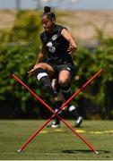 1 August 2019; Rianna Jarrett during a Republic of Ireland Women's team training session at Dignity Health Sports Park in Pasadena, California, USA. Photo by Cody Glenn/Sportsfile