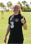 1 August 2019; Amber Barrett during a Republic of Ireland women's team training session at Dignity Health Sports Park in Carson, California, USA. Photo by Cody Glenn/Sportsfile